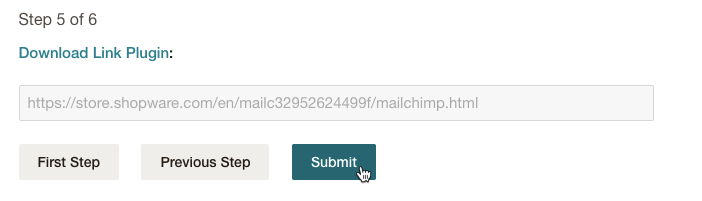 Mailchimp for Shopware - Confirm Plugin - Submit