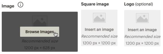 botón-creador-anuncio-contenido-marcador-posición-imagen-clic-explorar-imágenes