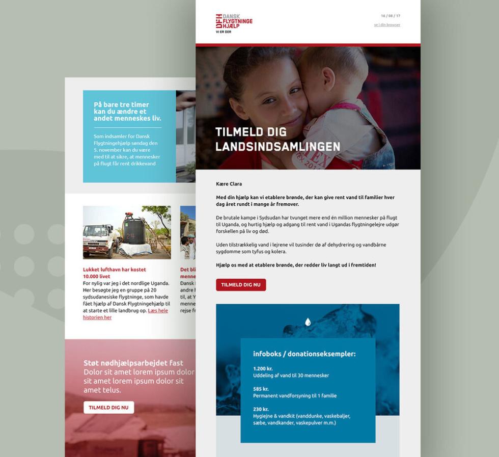 Image of Dansk Flygtningehjælp newsletter