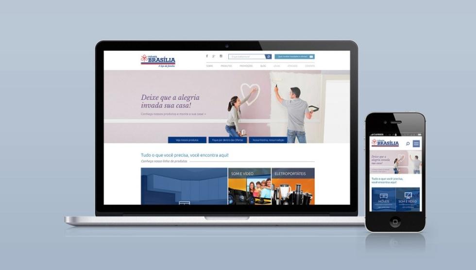 Image of a desktop and mobile website for Brasilia.