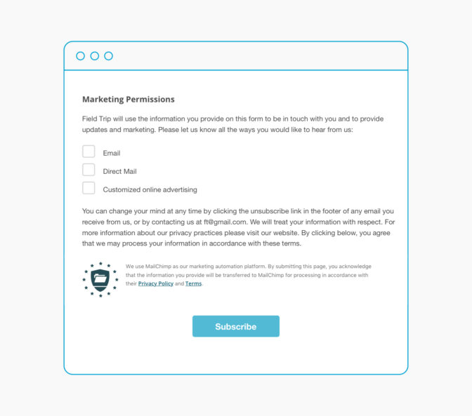 New Gdpr Tools Available From Mailchimp Updated Forms Improved