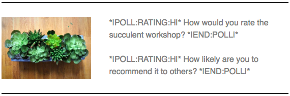 cb bloc de texte merge tags de sondage