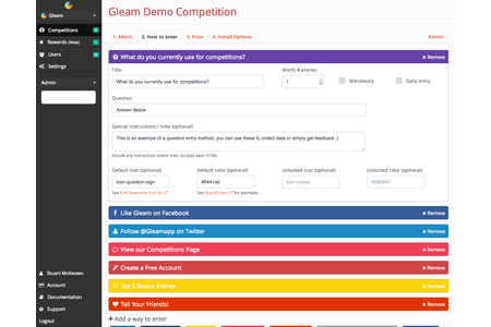 Run engaging competitions & automatically send entrants to any MailChimp list.