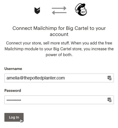 El cursor hace clic en Log In (Iniciar sesión).