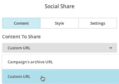 Select Content to Share for Social Share