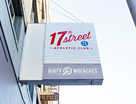 The sign of the 17th Street Athletic Club