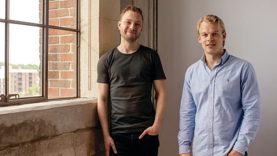 Photograph featuring Sander Bosch and Bart Wegink of Invest Online.