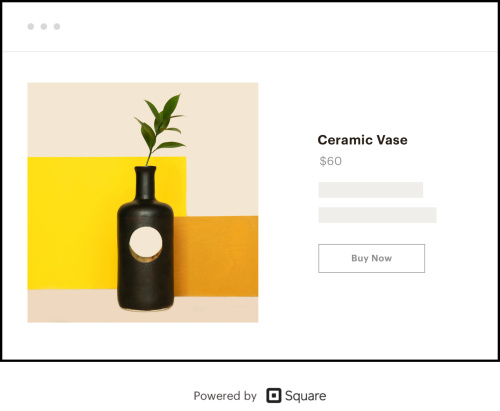 An example of a Shoppable Landing Page selling a ceramic vase
