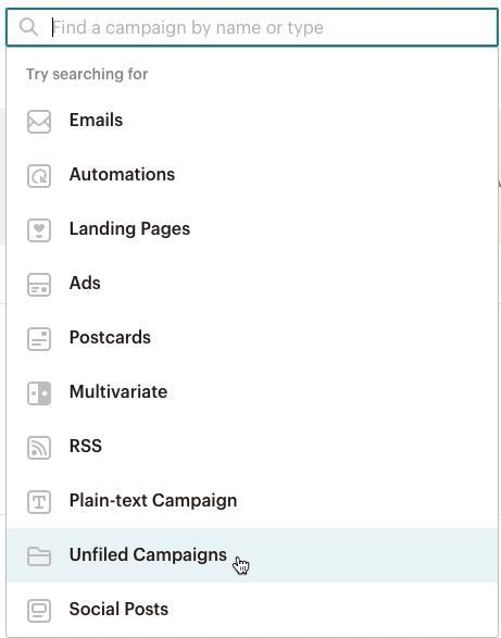 dropdown-campaignspage-searchbar-unfiledcampaign