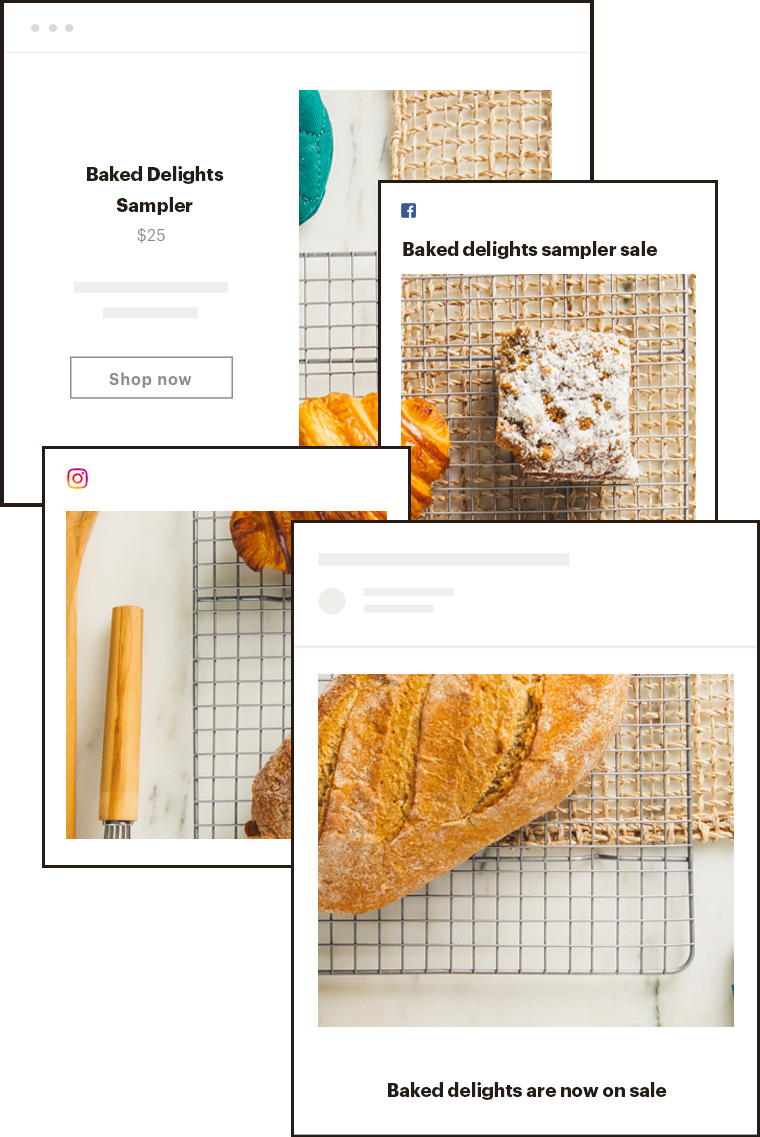 Baked Delights social posting campaign