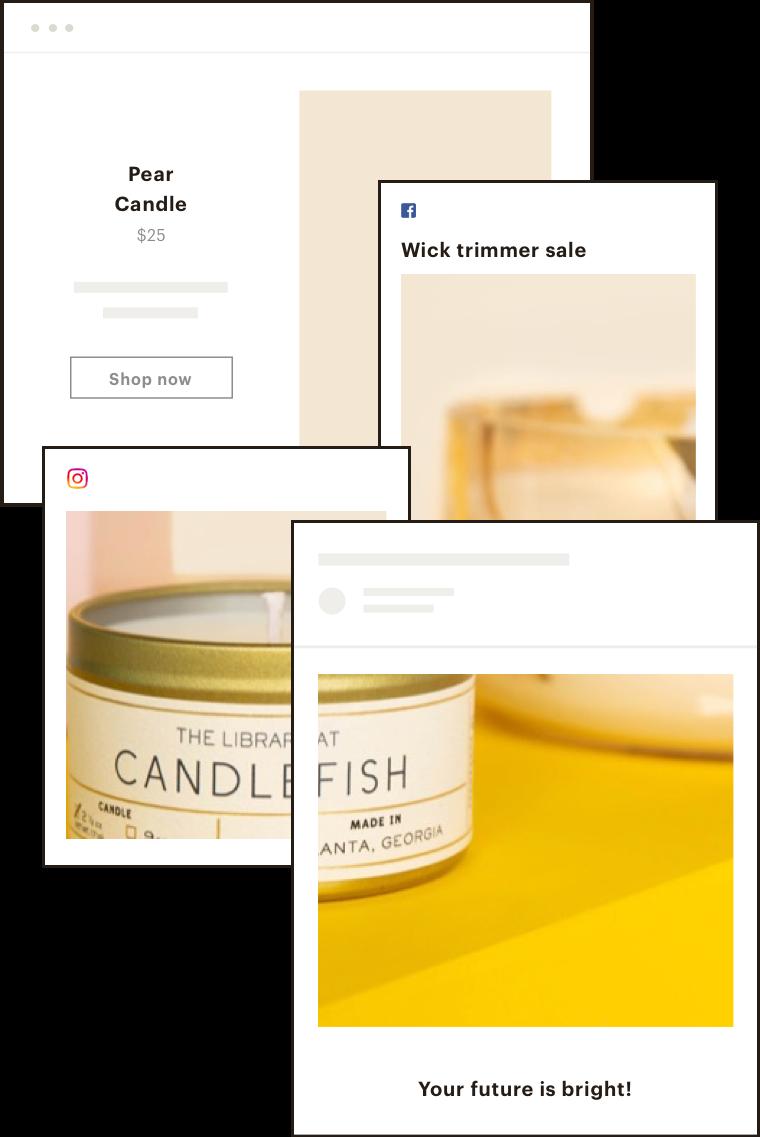 Candlefish social posting campaign