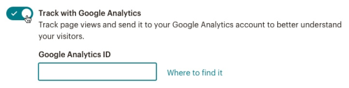 Toggle on Google Analytics.