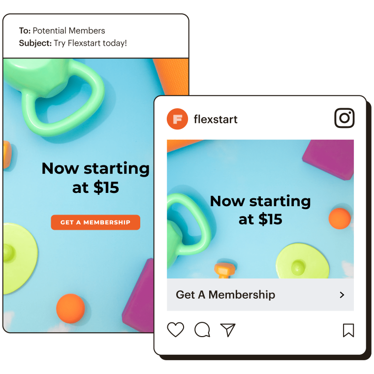 Example of email and Instagram ad.