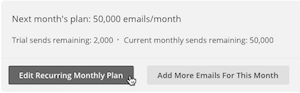 Cursor clicking button to edit monthly plan