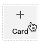 Image: a screenshot of the add card button