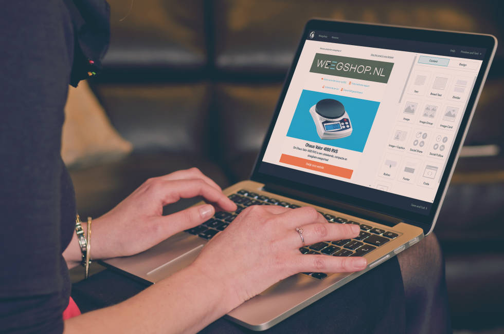 Image of computer displaying newsletter template created by Bo Webexperts