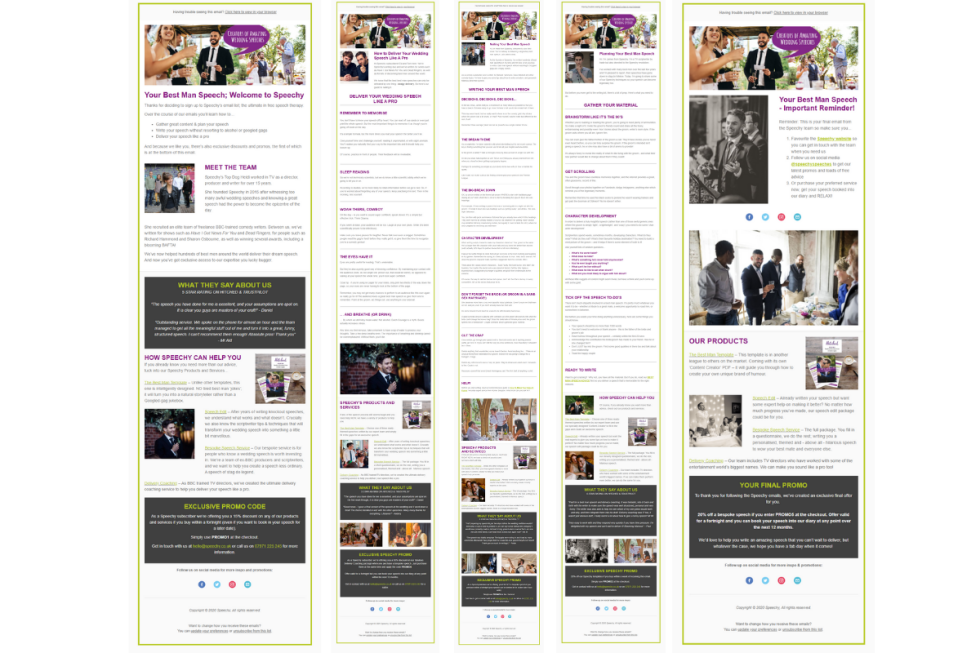 Image of multiple newsletters from Inbox Hero