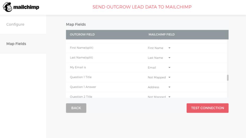 Screenshot of Outgrow's map fields tool