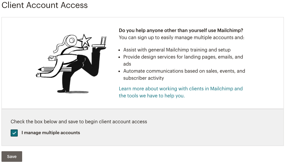 client-account-access-selection