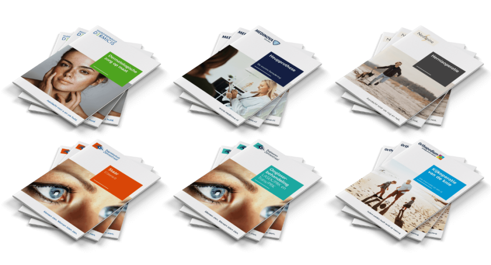Image of brochures for different companies