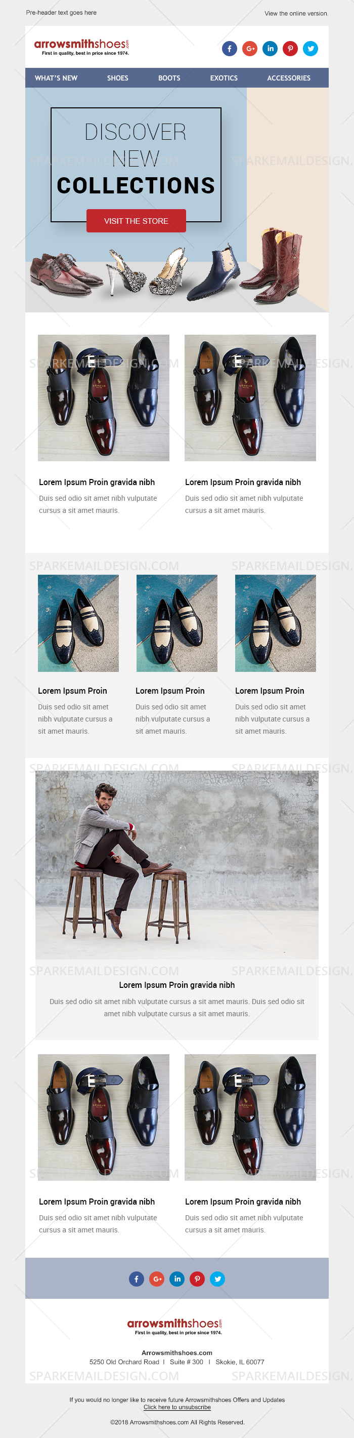 Arrowsmith Shoes Website