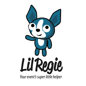 Image of Lil Regie logo with text your event's super little helper