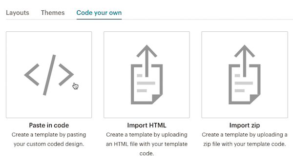 Import A Custom Html Template