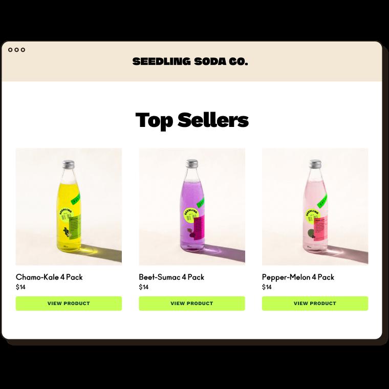 Seedling Soda Top Sellers