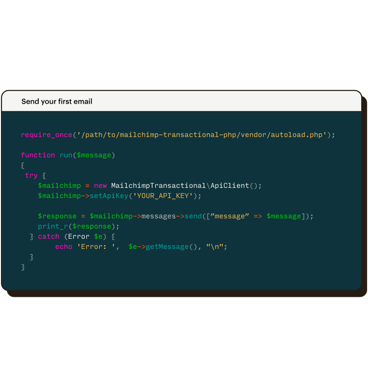 Transactional Email HTML Integrations Wrappers Mandrill