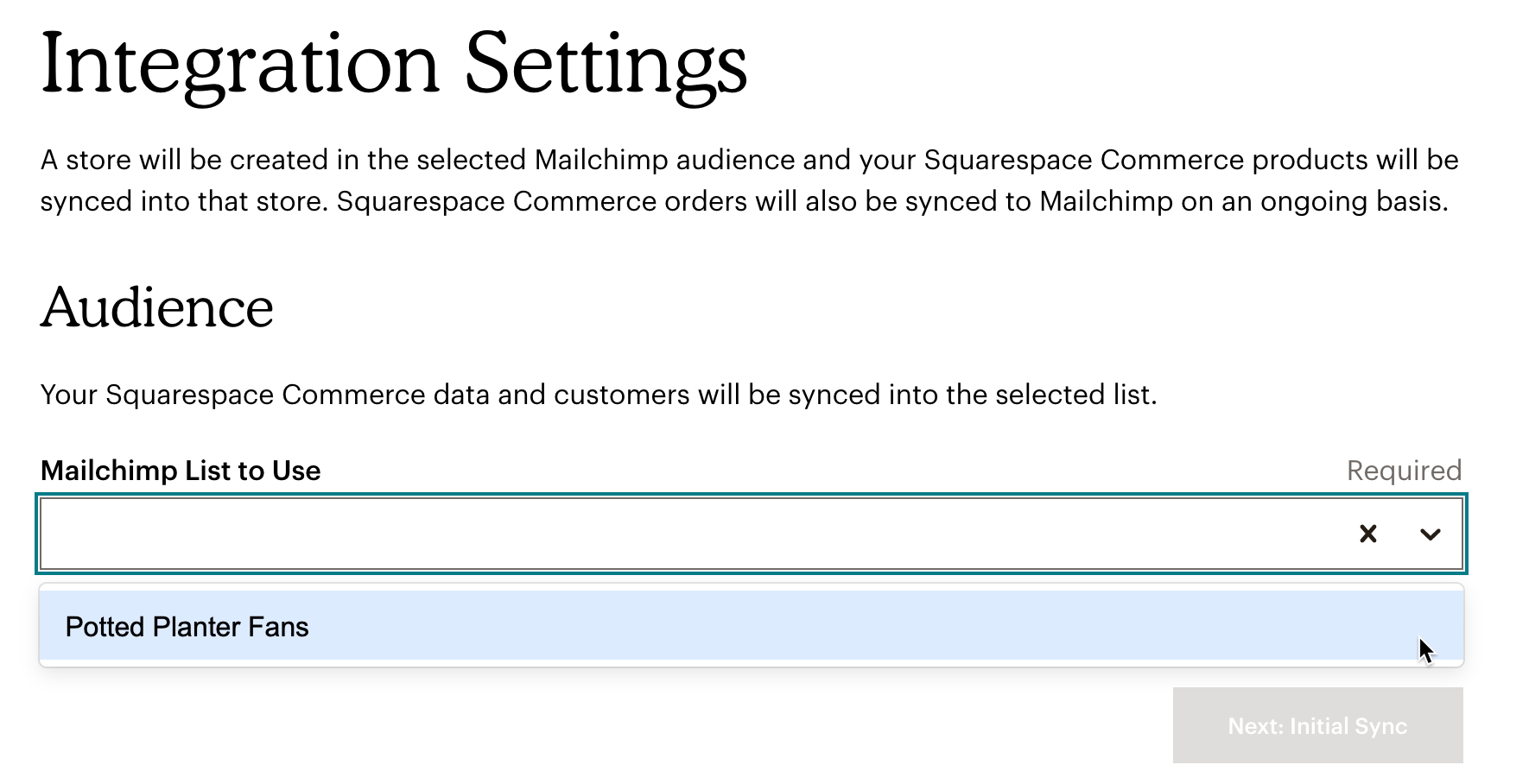 Squarespace-MC-Audience-Select