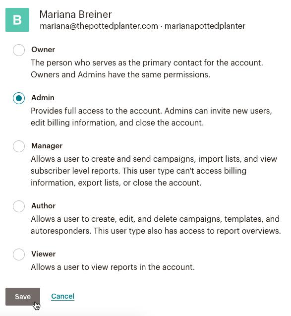 Edit user details