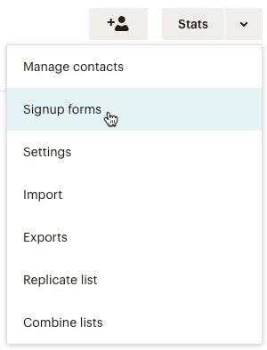 create a new list group