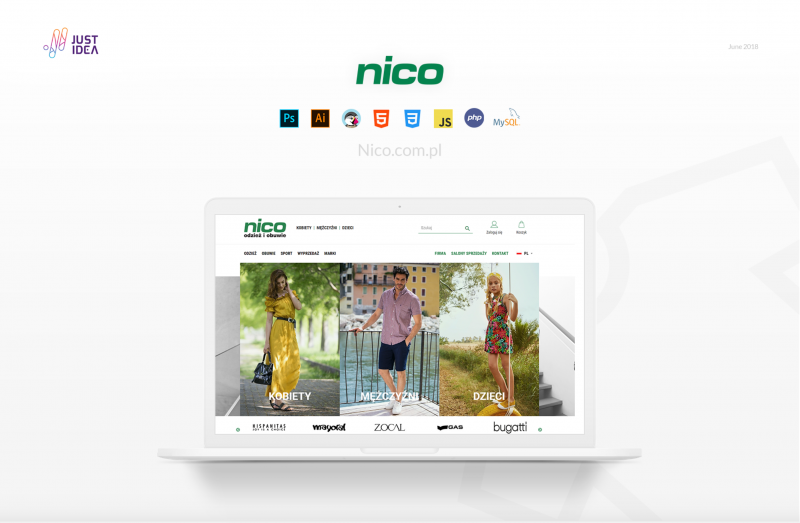 Image of Nico site with an image of a laptop and the nico website on it