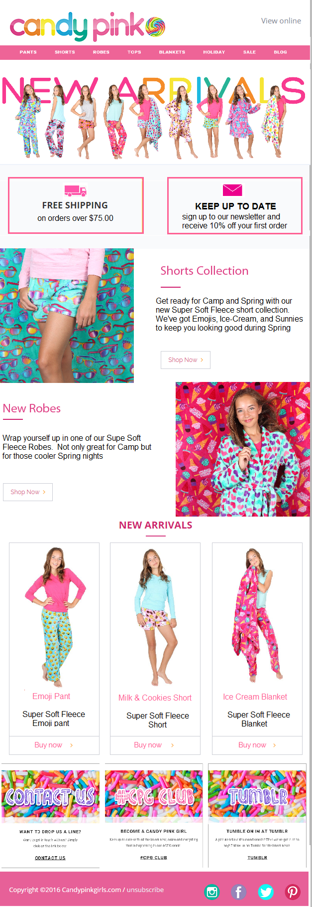 Image of Candy Pink newsletter