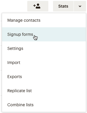 dropdown Lists clicksignupforms