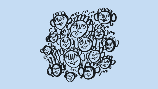 Illustration of a bunch of faces