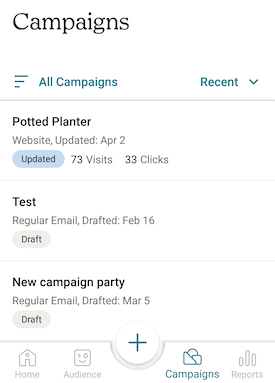 android- campaigns-screen