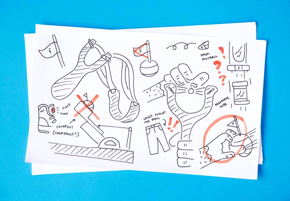 designer's sketches of animation