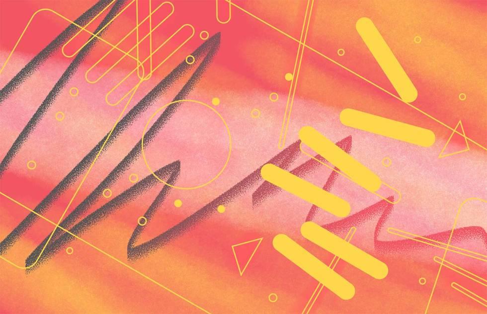 A retro 80's graphic