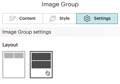 Imagegroupblock-Settingstab