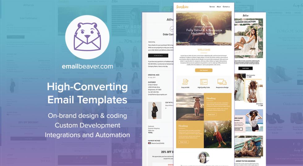 Screenshot of EmailBeavers website homepage