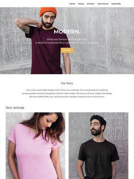 Thumbnail of the Modern website