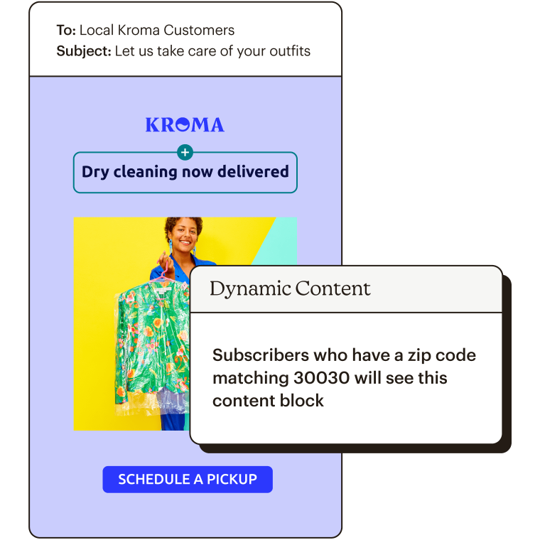 Dynamic Content Abstract UI Personalize Your Message