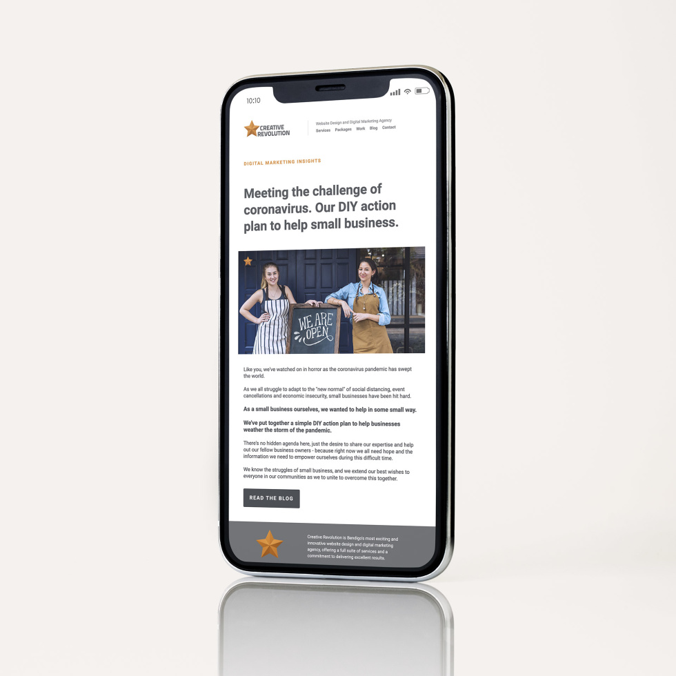 Image of article on a phone.