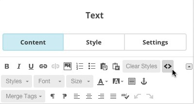 Text content block with cursor clicking the source icon.
