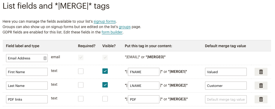 how to send someone a link to a mailchimp list