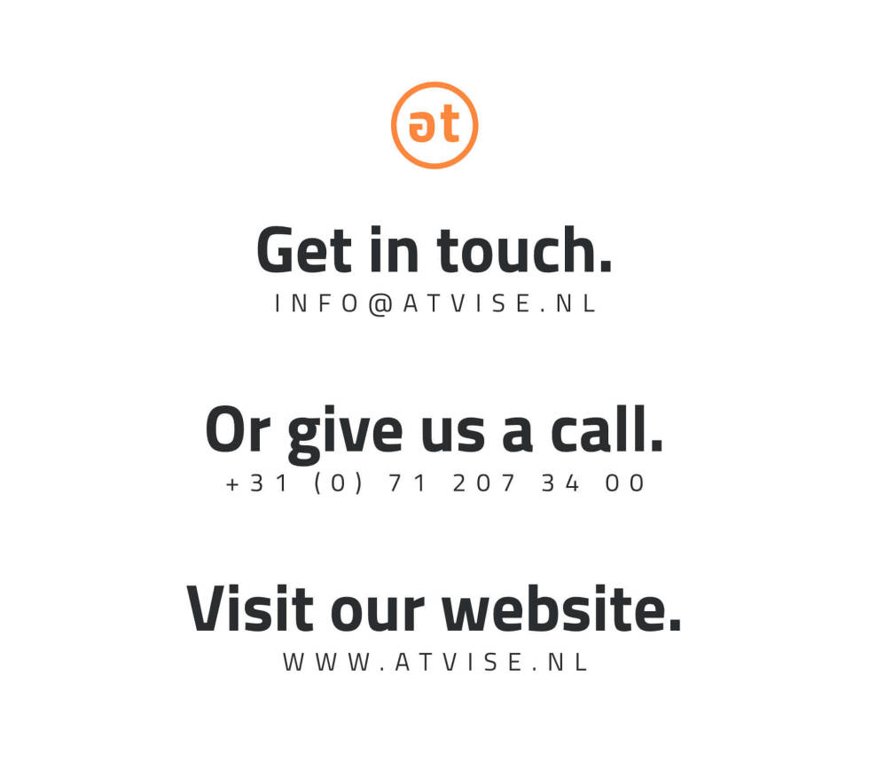 Atvise contact information.