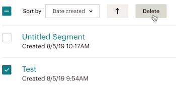 segments-segment avancé-cliquer sur delete (supprimer)