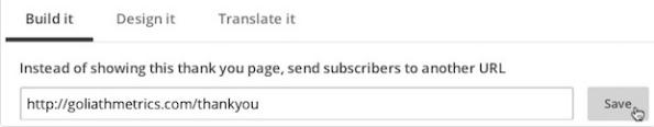 Create forms choose alternative URL