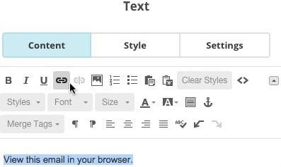 Link text button